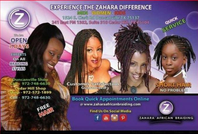 Zahara Hair Braiding